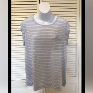 Ann Taylor Loft Striped Short Sleeve Top